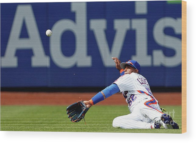 Yoenis Cespedes Wood Print featuring the photograph Yoenis Cespedes by Adam Hunger