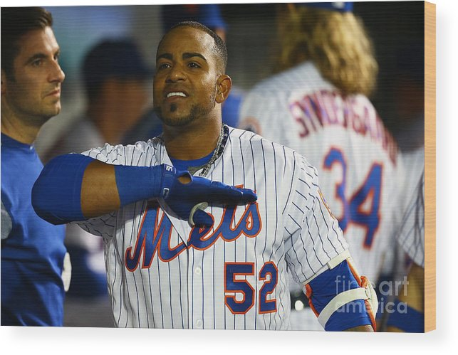 Yoenis Cespedes Wood Print featuring the photograph Yoenis Cespedes by Mike Stobe