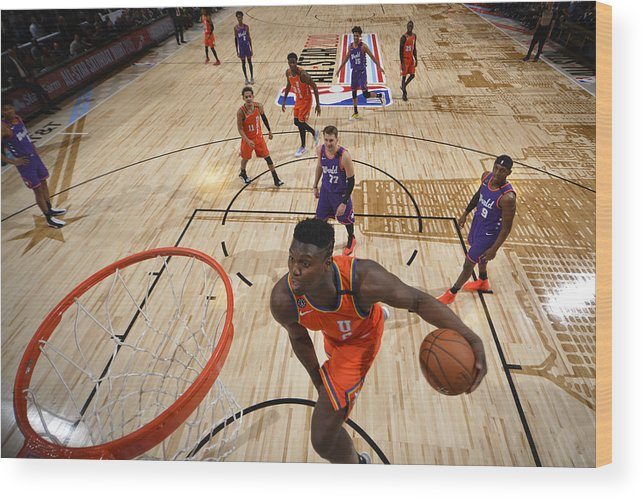 Nba Pro Basketball Wood Print featuring the photograph Zion Williamson by Jesse D. Garrabrant