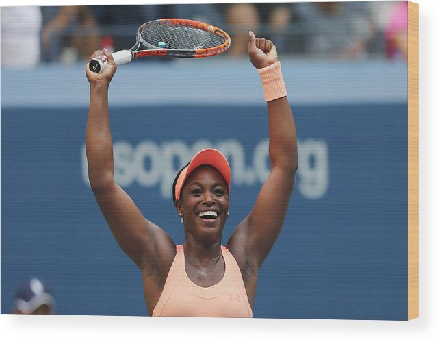 Tennis Wood Print featuring the photograph 2017 US Open Tennis Championships - Day 9 by Elsa
