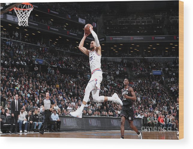 Playoffs Wood Print featuring the photograph Ben Simmons by Nathaniel S. Butler