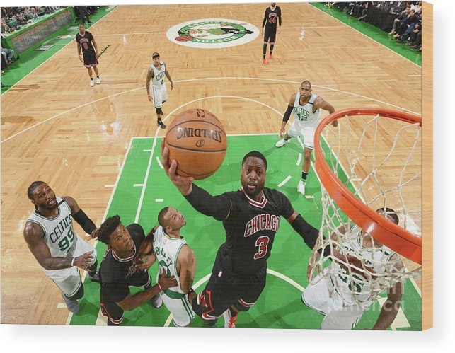 Playoffs Wood Print featuring the photograph Dwyane Wade by Jesse D. Garrabrant