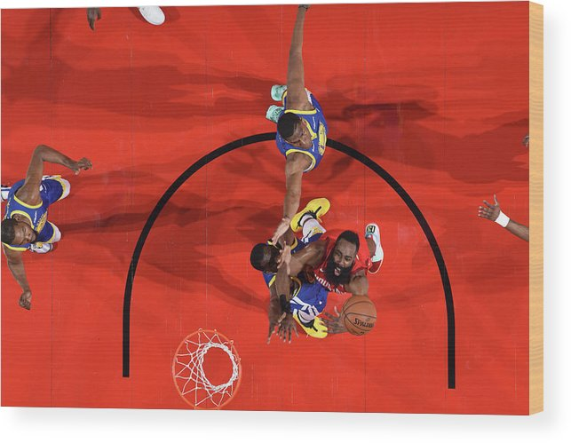 Playoffs Wood Print featuring the photograph James Harden by Andrew D. Bernstein