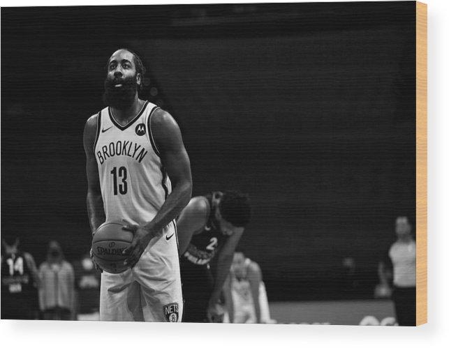 Nba Pro Basketball Wood Print featuring the photograph James Harden by Jesse D. Garrabrant