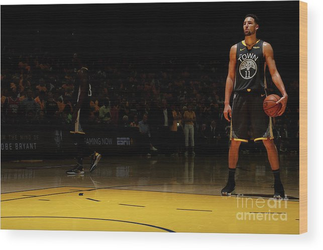 Playoffs Wood Print featuring the photograph Klay Thompson by Nathaniel S. Butler