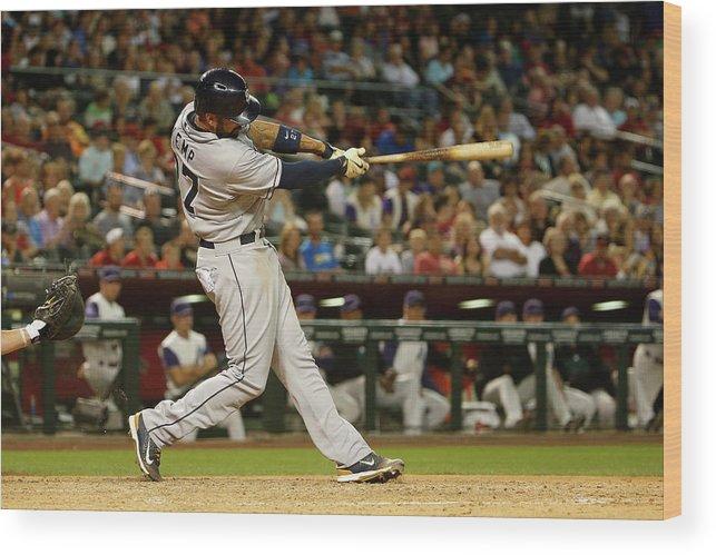 American League Baseball Wood Print featuring the photograph Matt Kemp by Christian Petersen
