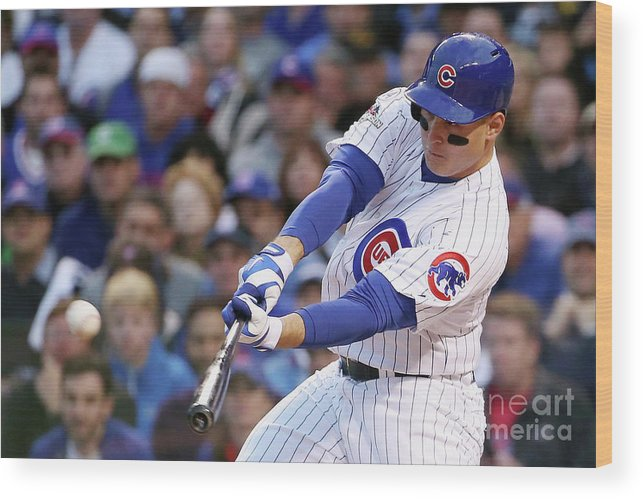 Three Quarter Length Wood Print featuring the photograph Anthony Rizzo by Jonathan Daniel