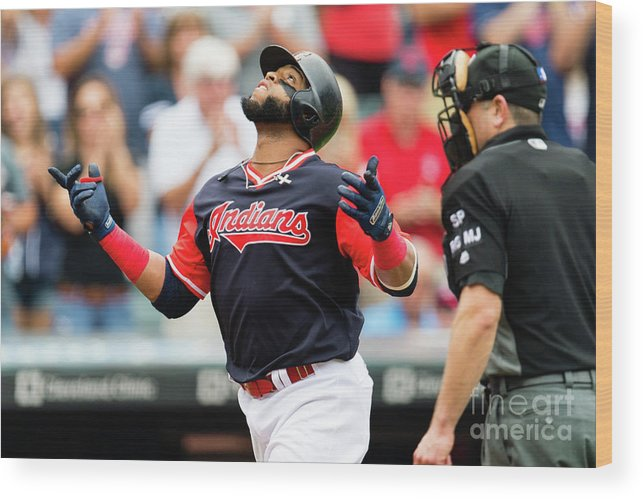 Second Inning Wood Print featuring the photograph Carlos Santana by Jason Miller