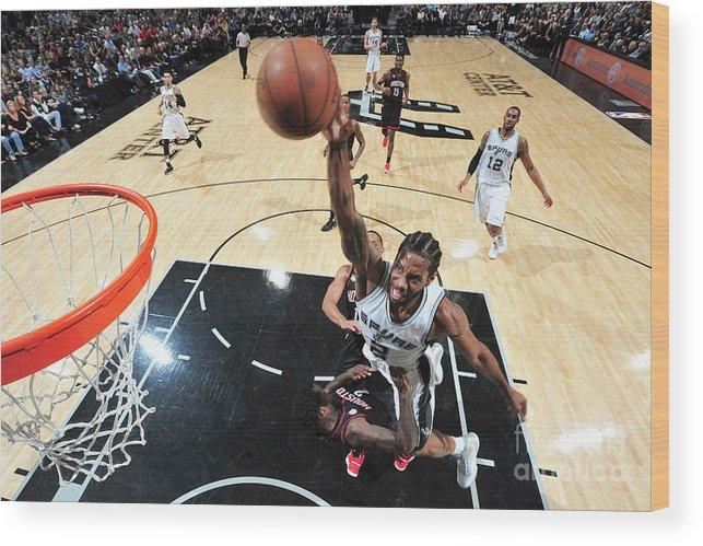 Nba Pro Basketball Wood Print featuring the photograph Kawhi Leonard by Mark Sobhani