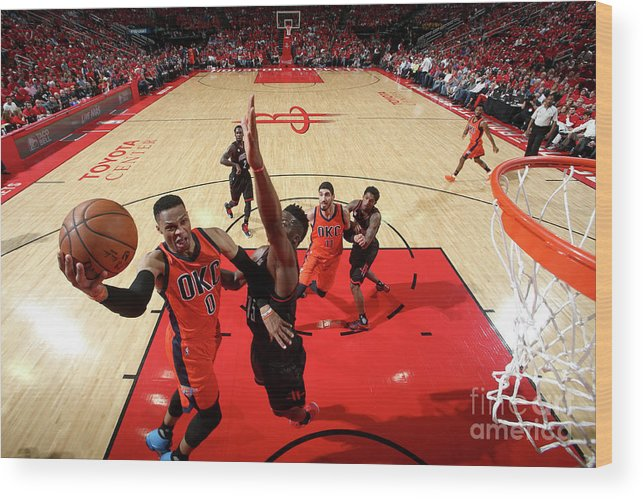 Playoffs Wood Print featuring the photograph Russell Westbrook by Nathaniel S. Butler