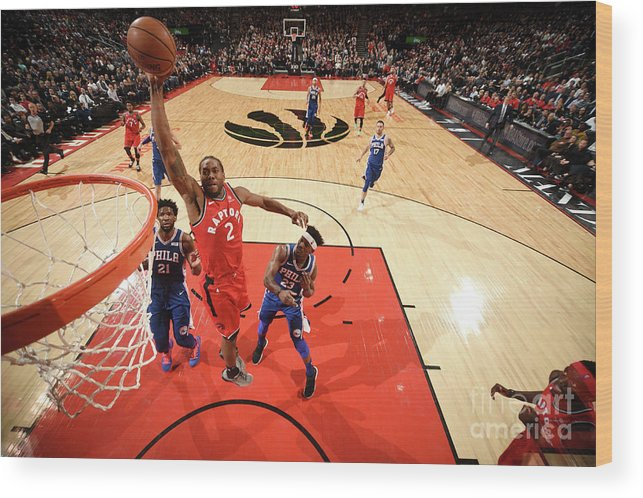 Nba Pro Basketball Wood Print featuring the photograph Kawhi Leonard by Ron Turenne