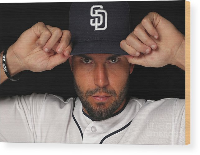 Media Day Wood Print featuring the photograph Eric Hosmer by Patrick Smith