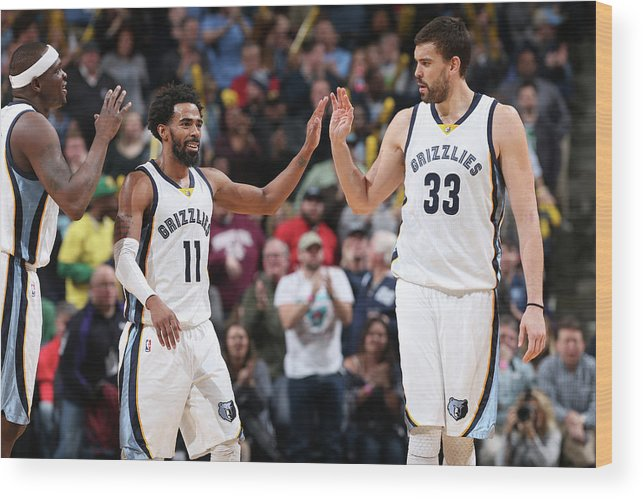 Nba Pro Basketball Wood Print featuring the photograph Mike Conley by Joe Murphy
