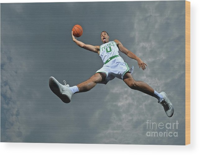 Nba Pro Basketball Wood Print featuring the photograph Jayson Tatum by Jesse D. Garrabrant