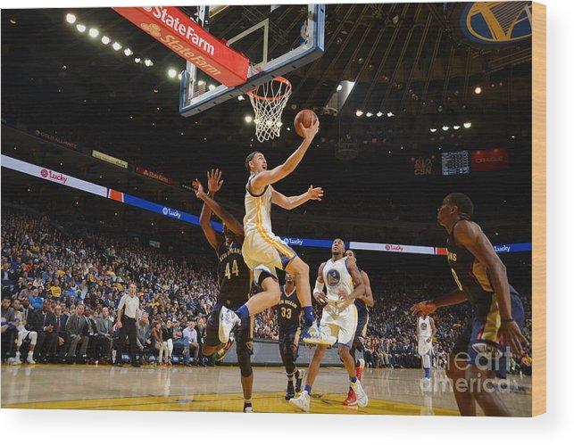 Nba Pro Basketball Wood Print featuring the photograph Klay Thompson by Noah Graham