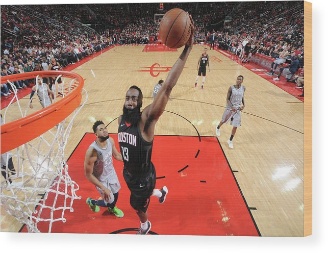 Playoffs Wood Print featuring the photograph James Harden by Bill Baptist