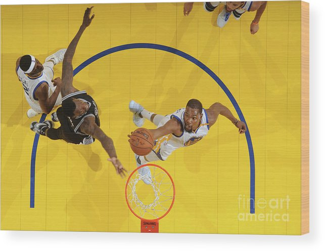 Playoffs Wood Print featuring the photograph Kevin Durant by Andrew D. Bernstein