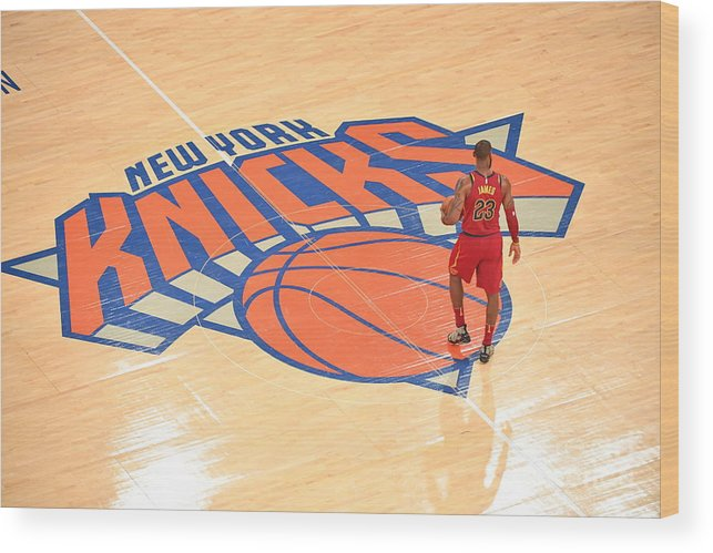 Nba Pro Basketball Wood Print featuring the photograph Lebron James by Jesse D. Garrabrant
