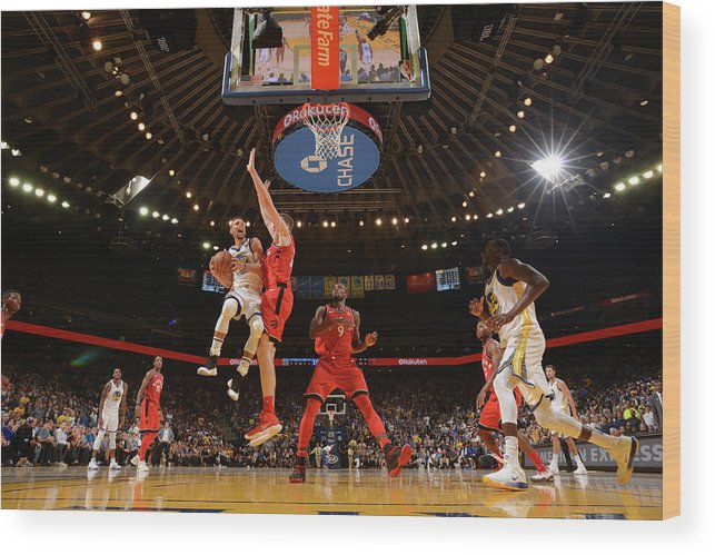 Nba Pro Basketball Wood Print featuring the photograph Stephen Curry by Noah Graham