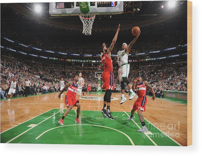 Nba Pro Basketball Wood Print featuring the photograph Isaiah Thomas by Brian Babineau