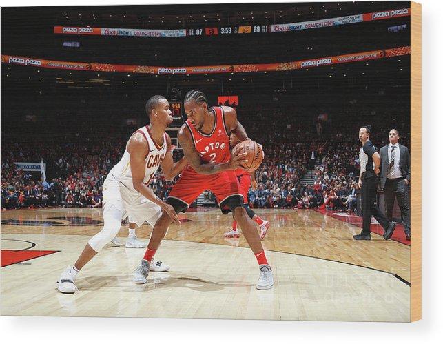Nba Pro Basketball Wood Print featuring the photograph Kawhi Leonard by Mark Blinch