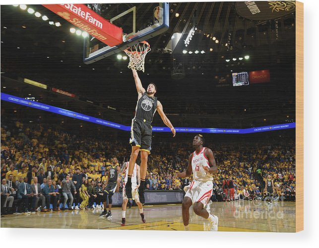 Playoffs Wood Print featuring the photograph Klay Thompson by Noah Graham