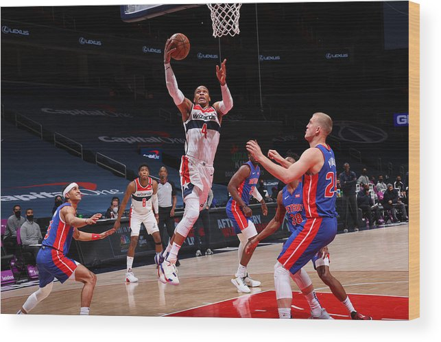 Nba Pro Basketball Wood Print featuring the photograph Russell Westbrook by Ned Dishman