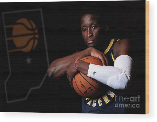 Media Day Wood Print featuring the photograph Victor Oladipo by Ron Hoskins