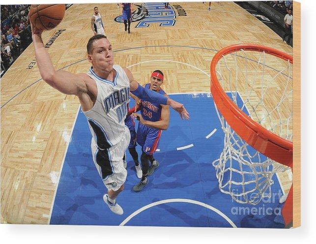 Nba Pro Basketball Wood Print featuring the photograph Aaron Gordon by Fernando Medina
