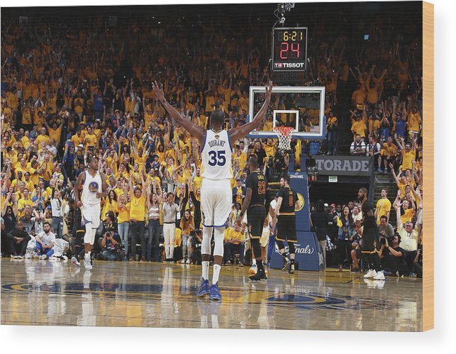 Playoffs Wood Print featuring the photograph Kevin Durant by Nathaniel S. Butler