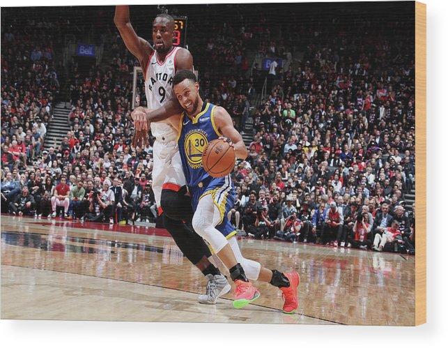 Playoffs Wood Print featuring the photograph Stephen Curry by Nathaniel S. Butler
