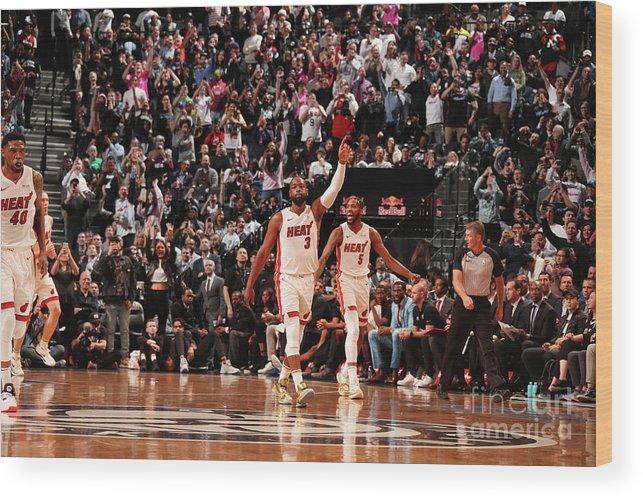 Nba Pro Basketball Wood Print featuring the photograph Dwyane Wade by Issac Baldizon