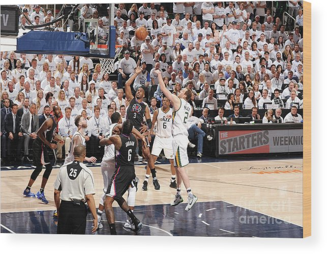 Playoffs Wood Print featuring the photograph Chris Paul by Andrew D. Bernstein