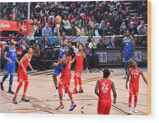 Nba Pro Basketball Wood Print featuring the photograph Kawhi Leonard by Jesse D. Garrabrant