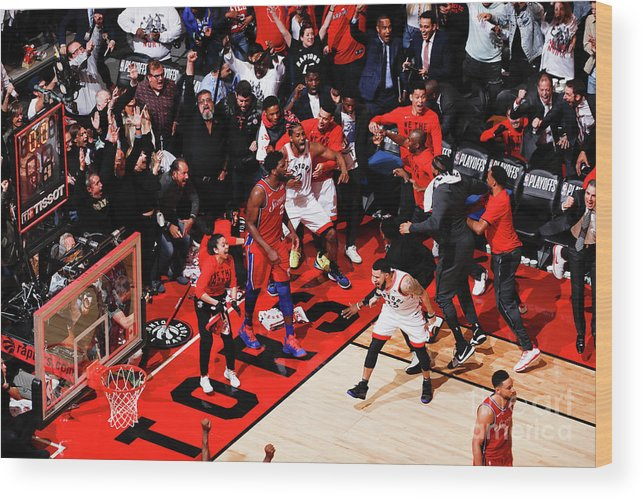 Playoffs Wood Print featuring the photograph Kawhi Leonard by Mark Blinch