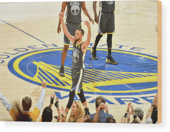 Playoffs Wood Print featuring the photograph Stephen Curry by Jesse D. Garrabrant