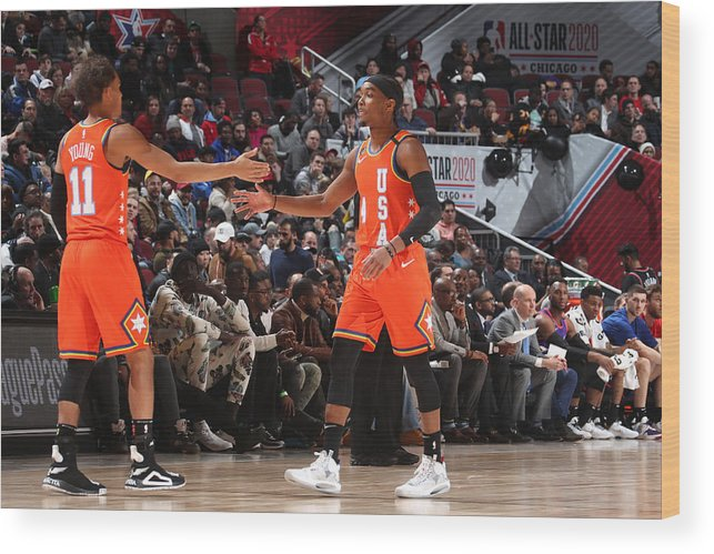 Nba Pro Basketball Wood Print featuring the photograph 2020 NBA All-Star - Rising Stars Game by Nathaniel S. Butler