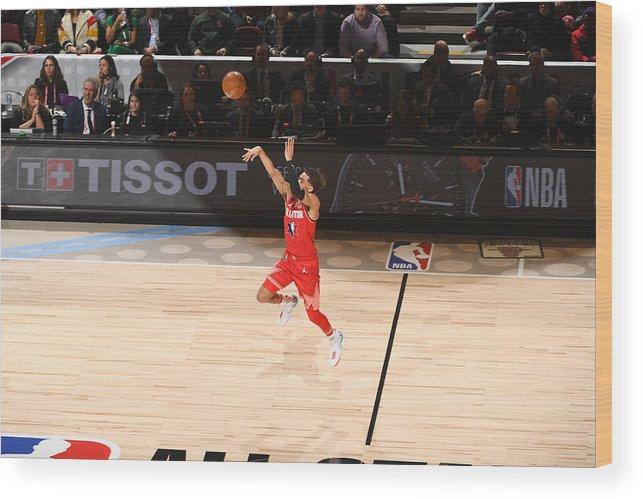 Nba Pro Basketball Wood Print featuring the photograph 69th NBA All-Star Game by Garrett Ellwood