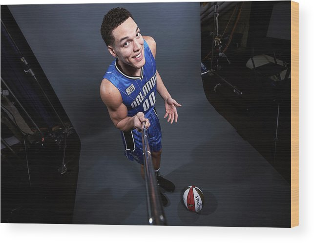 Event Wood Print featuring the photograph Aaron Gordon by Jennifer Pottheiser