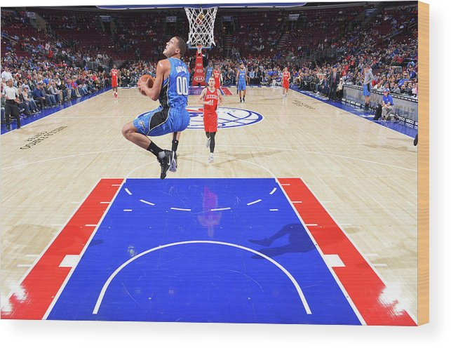 Nba Pro Basketball Wood Print featuring the photograph Aaron Gordon by Jesse D. Garrabrant