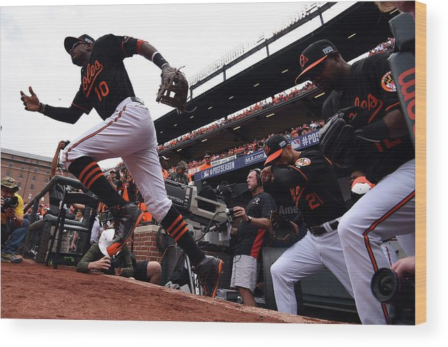 Game Two Wood Print featuring the photograph Adam Jones by Patrick Smith
