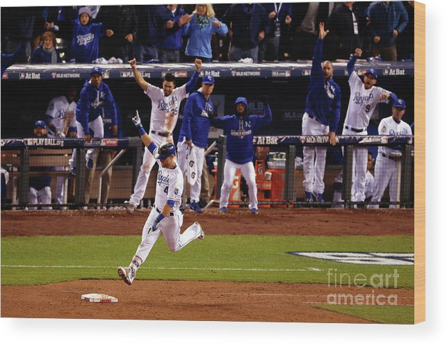 Ninth Inning Wood Print featuring the photograph Alex Gordon by Christian Petersen