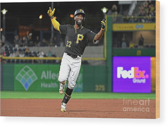 Second Inning Wood Print featuring the photograph Andrew Mccutchen by Justin Berl