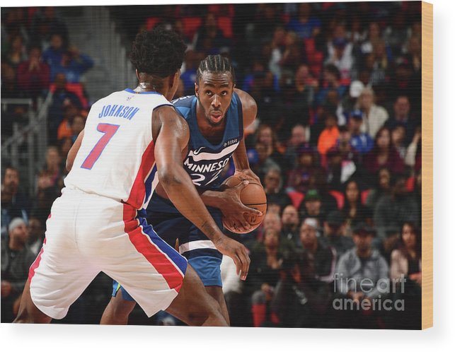 Sport Wood Print featuring the photograph Andrew Wiggins by Chris Schwegler