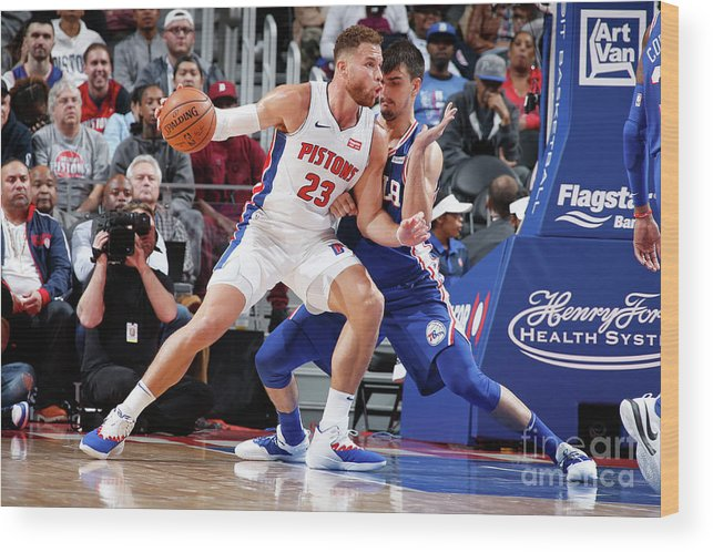 Nba Pro Basketball Wood Print featuring the photograph Blake Griffin by Brian Sevald