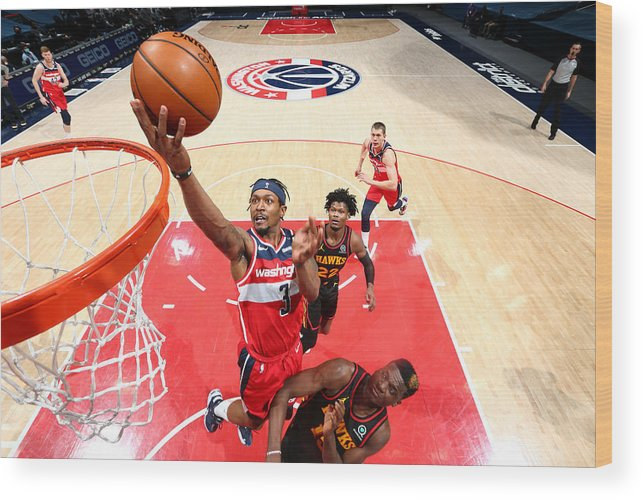 Nba Pro Basketball Wood Print featuring the photograph Bradley Beal by Stephen Gosling