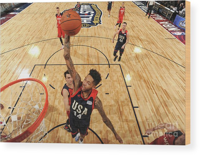 Event Wood Print featuring the photograph Brandon Ingram by Andrew D. Bernstein