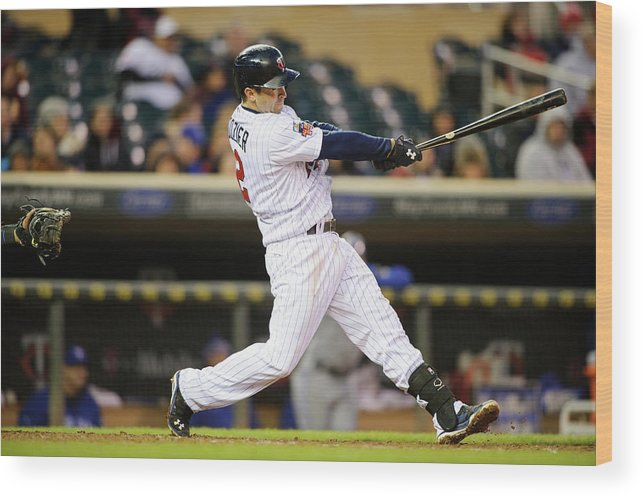 Game Two Wood Print featuring the photograph Brian Dozier by Hannah Foslien