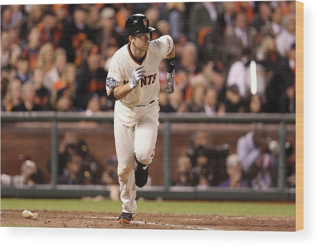 San Francisco Wood Print featuring the photograph Buster Posey by Christian Petersen