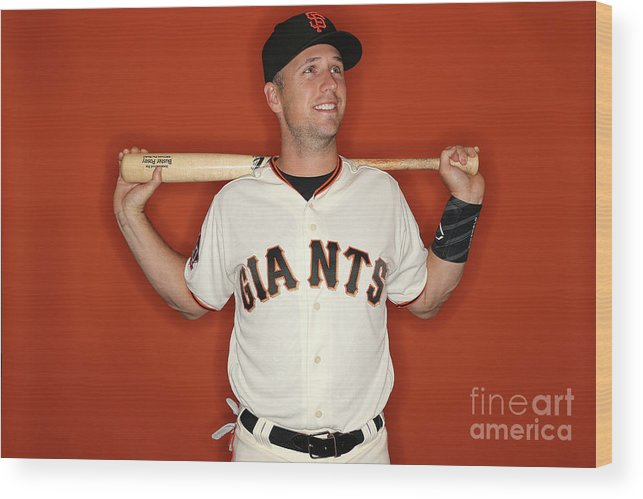 Media Day Wood Print featuring the photograph Buster Posey by Patrick Smith